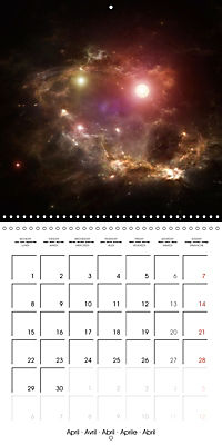 Celestial lights (Wall Calendar 2019 300 × 300 mm Square) - Produktdetailbild 4
