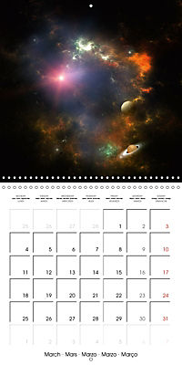 Celestial lights (Wall Calendar 2019 300 × 300 mm Square) - Produktdetailbild 3