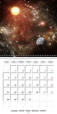 Celestial lights (Wall Calendar 2019 300 × 300 mm Square) - Produktdetailbild 1