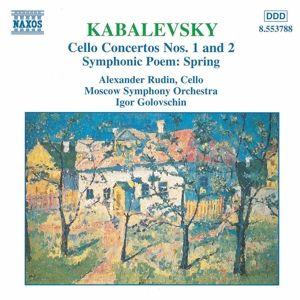 Cellokonzerte 1+2/Frühling, A. Rudin, I. Golowschin, Moso