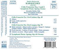 Cellokonzerte 1+2/Frühling - Produktdetailbild 1