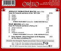 Cellosonaten D-Dur Bwv 1028/A-Moll Op.116 - Produktdetailbild 1