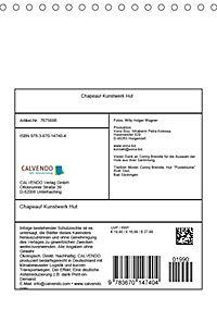 Chapeau! Kunstwerk Hut (Tischkalender 2019 DIN A5 hoch) - Produktdetailbild 13