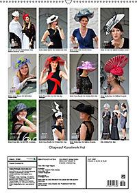 Chapeau! Kunstwerk Hut (Wandkalender 2019 DIN A2 hoch) - Produktdetailbild 13