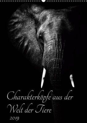 Charakterköpfe aus der Welt der Tiere (Wandkalender 2019 DIN A2 hoch), Kirsten Karius, Kirsten und Holger Karius