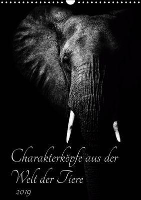 Charakterköpfe aus der Welt der Tiere (Wandkalender 2019 DIN A3 hoch), Kirsten Karius, Kirsten und Holger Karius