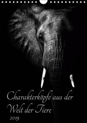 Charakterköpfe aus der Welt der Tiere (Wandkalender 2019 DIN A4 hoch), Kirsten Karius