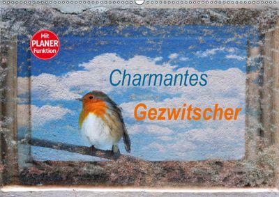 Charmantes Gezwitscher (Wandkalender 2019 DIN A2 quer), Anette/Thomas Jäger, Anette Jäger