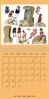 CHARMING OLD PAPER DOLLS (Wall Calendar 2019 300 × 300 mm Square) - Produktdetailbild 7