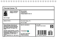 Chevrolet Camaro 79 (Tischkalender 2019 DIN A5 quer) - Produktdetailbild 13
