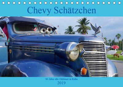 Chevy Schätzchen - 80 Jahre alte Oldtimer in Kuba (Tischkalender 2019 DIN A5 quer), Henning von Löwis of Menar