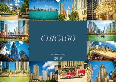 Chicago Impressionen (Wandkalender 2019 DIN A2 quer), Dirk Meutzner