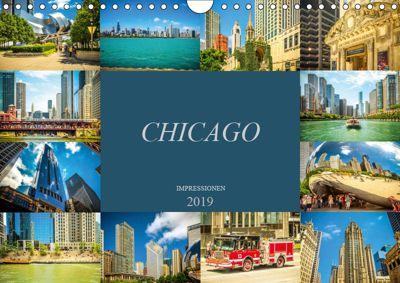 Chicago Impressionen (Wandkalender 2019 DIN A4 quer), Dirk Meutzner
