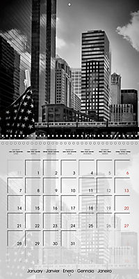 CHICAGO Monochrome Views (Wall Calendar 2019 300 × 300 mm Square) - Produktdetailbild 1