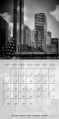 CHICAGO Monochrome Views (Wall Calendar 2019 300 × 300 mm Square) - Produktdetailbild 1