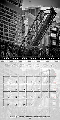 CHICAGO Monochrome Views (Wall Calendar 2019 300 × 300 mm Square) - Produktdetailbild 2