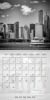 CHICAGO Monochrome Views (Wall Calendar 2019 300 × 300 mm Square) - Produktdetailbild 4
