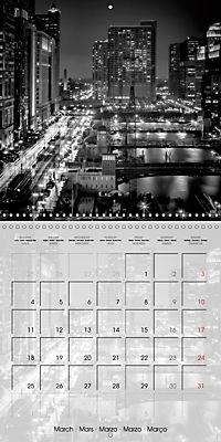 CHICAGO Monochrome Views (Wall Calendar 2019 300 × 300 mm Square) - Produktdetailbild 3