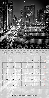 CHICAGO Monochrome Views (Wall Calendar 2019 300 × 300 mm Square) - Produktdetailbild 3