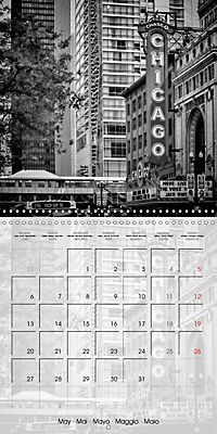 CHICAGO Monochrome Views (Wall Calendar 2019 300 × 300 mm Square) - Produktdetailbild 5