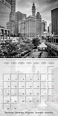 CHICAGO Monochrome Views (Wall Calendar 2019 300 × 300 mm Square) - Produktdetailbild 12