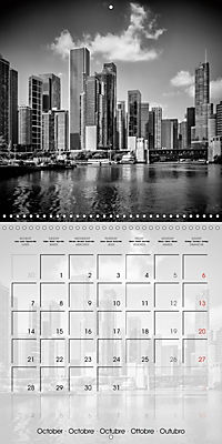 CHICAGO Monochrome Views (Wall Calendar 2019 300 × 300 mm Square) - Produktdetailbild 10