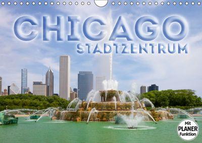 CHICAGO Stadtzentrum (Wandkalender 2019 DIN A4 quer), Melanie Viola