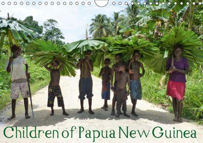 Children of Papua New Guinea (UK Version) (Wall Calendar 2019 DIN A4 Landscape), André Hähnke und Peter Möller