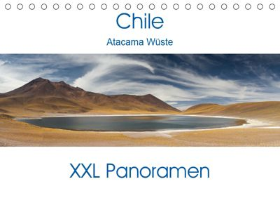 Chile Atacama Wüste - XXL Panoramen (Tischkalender 2019 DIN A5 quer), Juergen Schonnop
