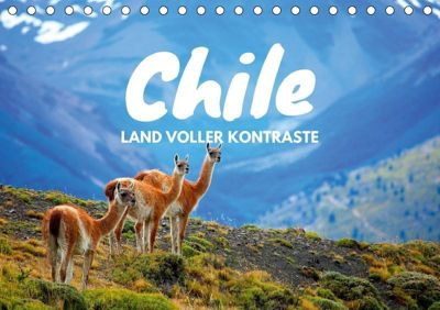 Chile - Land voller Kontraste (Tischkalender 2019 DIN A5 quer), Daniel Tischer