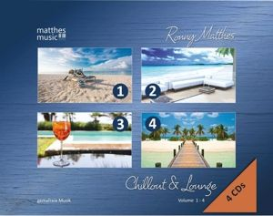 Chillout & Lounge (Vol. 1-4) - Gemafreie Hintergrundmusik (Jazz, Chillout, Ambient & Piano Lounge) 4 CD - Edition, Ronny Matthes