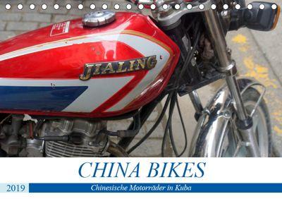 CHINA BIKES - Chinesische Motorräder in Kuba (Tischkalender 2019 DIN A5 quer), Henning von Löwis of Menar