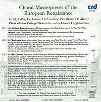 Choral Masterpieces Of The European Renaissance - Produktdetailbild 1