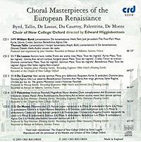 Choral Masterpieces Of The European Renaissance - Produktdetailbild 1