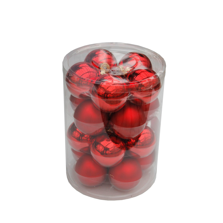 Christbaumkugeln Rot 15 Cm.Christbaumkugeln ø 6cm Rot 20 Stück Inkl Kugelaufhänger Weltbild De