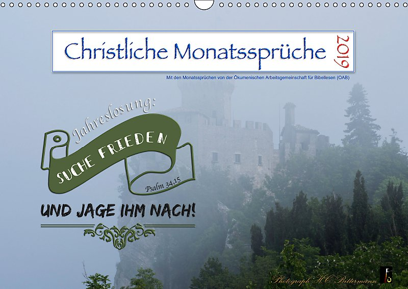 Christliche Monatssprüche 2019 Wandkalender 2019 Din A3 Quer