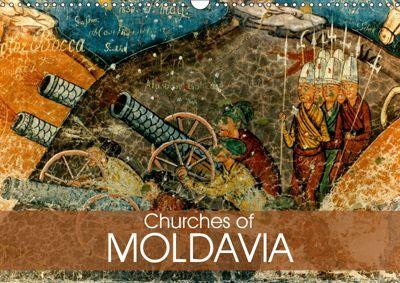 Churches of Moldavia (Wall Calendar 2019 DIN A3 Landscape), Joern Stegen