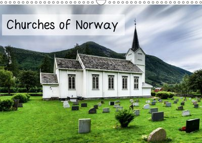 Churches of Norway (Wall Calendar 2019 DIN A3 Landscape), Dirk Rosin