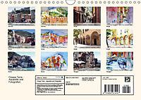 Cinque Terre - Aquarelle und Fotografien (Wandkalender 2019 DIN A4 quer) - Produktdetailbild 13