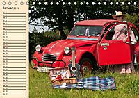 Citroën 2CV - Ente rot (Tischkalender 2019 DIN A5 quer) - Produktdetailbild 1