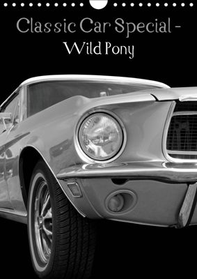 Classic Car Special - Wild Pony (Wall Calendar 2019 DIN A4 Portrait), Beate Gube