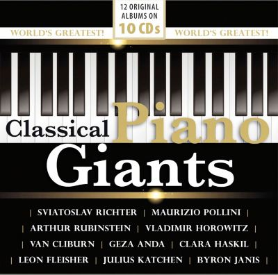 Classical Piano Giants, 10 CDs, Various