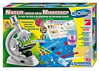 "Clementoni - Galileo ""Natur unter dem Mikroskop"", Experimentierkasten, 32-teilig - Produktdetailbild 1"