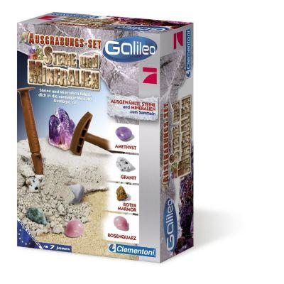 Clementoni - Galileo Steine und Mineralien, Ausgrabungs-Set
