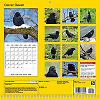 Clever Raven (Wall Calendar 2019 300 × 300 mm Square) - Produktdetailbild 13
