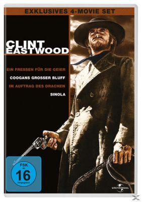 Clint Eastwood Collection: Ein Fressen für die Geier, Coogans grosser Bluff, Im Auftrag des Drachen, Sinola DVD-Box, Shirley MacLaine,Robert Duvall Clint Eastwood