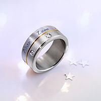"""CM Ring """"Hope, Love, Faith"""", Edelstahl (Größe:21) - Produktdetailbild 1"""