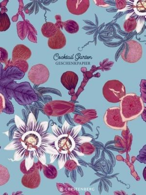 Cocktail Garten Geschenkpapier-Heft - Motiv Feigen