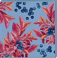 Cocktail Garten Untersetzer - Motiv Blaubeeren (2er Set) - Produktdetailbild 1