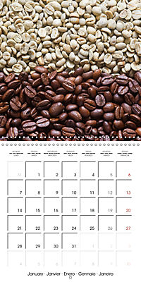 coffee (Wall Calendar 2019 300 × 300 mm Square) - Produktdetailbild 1